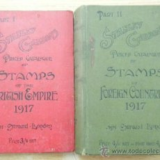 Sellos: STANLEY GIBBON'S PRICED CATALOGUE OF STAMPS OF THE BRITISH EMPIRE 1917. PART 1, PART II (2 VOL) . Lote 47795154