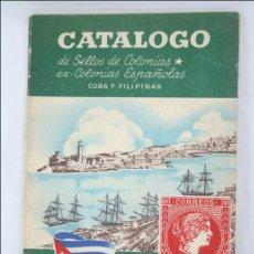 Sellos: ANTIGUO CATÁLOGO HEVIA DE SELLOS DE COLONIAS, EX-COLONIAS ESPAÑOLAS. CUBA Y FILIPINAS - AÑO 1956. Lote 47831051