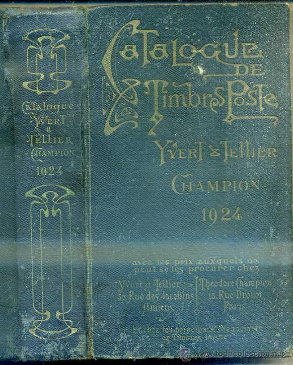 Sellos: CATALOGUE DE TIMBRES POSTE YVERT TELLIER CHAMPION 1924 - Foto 1 - 48348602