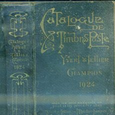 Sellos: CATALOGUE DE TIMBRES POSTE YVERT TELLIER CHAMPION 1924. Lote 48348602