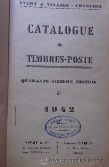 Sellos: CATALOGUE DE TIMBRES POSTE 1942 - Foto 2 - 48559694