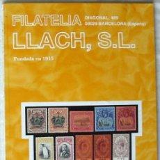 Sellos: CATALOGO DE VENTA 929 - FILATELIA LLACH - FEBRERO 2001 - 120 PÁGINAS - VER INDICE. Lote 51063098