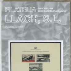 Sellos: CATALOGO DE VENTA 933 - FILATELIA LLACH - JUNIO 2001 - 112 PÁGINAS - VER INDICE. Lote 51063151