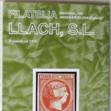 Sellos: CATALOGO DE VENTA 934 - FILATELIA LLACH - JULIO 2001 - 120 PÁGINAS - VER INDICE. Lote 51063193