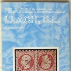 Sellos: CATALOGO DE VENTA 935 - FILATELIA LLACH - AGOSTO 2001 - 136 PÁGINAS - VER INDICE. Lote 51063225