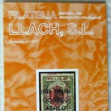 Sellos: CATALOGO DE VENTA 936 - FILATELIA LLACH - SEPTIEMBRE 2001 - 136 PÁGINAS - VER INDICE. Lote 51063269