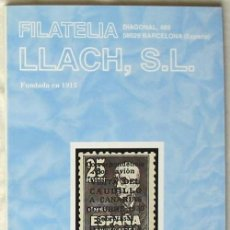 Sellos: CATALOGO DE VENTA 945 - FILATELIA LLACH - JUNIO 2002 - 112 PÁGINAS - VER INDICE. Lote 51063313