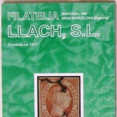Sellos: CATALOGO DE VENTA 946 - FILATELIA LLACH - JULIO 2002 - 104 PÁGINAS - VER INDICE. Lote 51063515