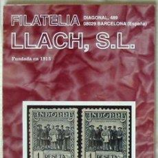 Sellos: CATALOGO DE VENTA 950 - FILATELIA LLACH - NOVIEMBRE 2002 - 120 PÁGINAS - VER INDICE. Lote 51063569