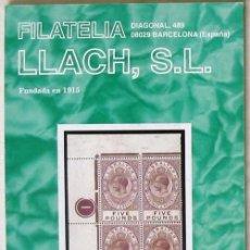 Sellos: CATALOGO DE VENTA 953 - FILATELIA LLACH - FEBRERO 2003 - 120 PÁGINAS - VER INDICE. Lote 51063608