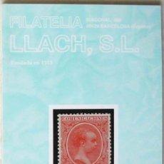 Sellos: CATALOGO DE VENTA 958 - FILATELIA LLACH - MARZO 2003 - 128 PÁGINAS - VER INDICE. Lote 51063685