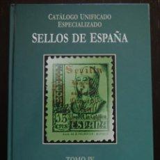 Sellos: CATALOGO EDIFIL ESPECIALIZADO TOMO IV. SERIE VERDE. Lote 51374999