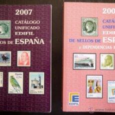 Francobolli: CATALOGOS EDIFIL 2007 Y 2008. Lote 51375066
