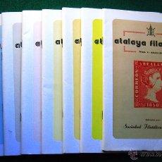 Sellos: REVISTA ATALAYA FILATÉLICA. 8 NÚMEROS. 1979-85. FILATELIA. Lote 51381838