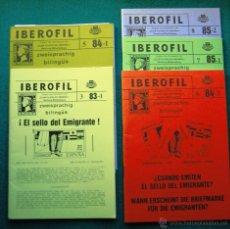 Sellos: REVISTA DE FILATELIA IBEROFIL. NAMBURGO. 5 NÚMEROS. 1983-85. L169. Lote 51381942