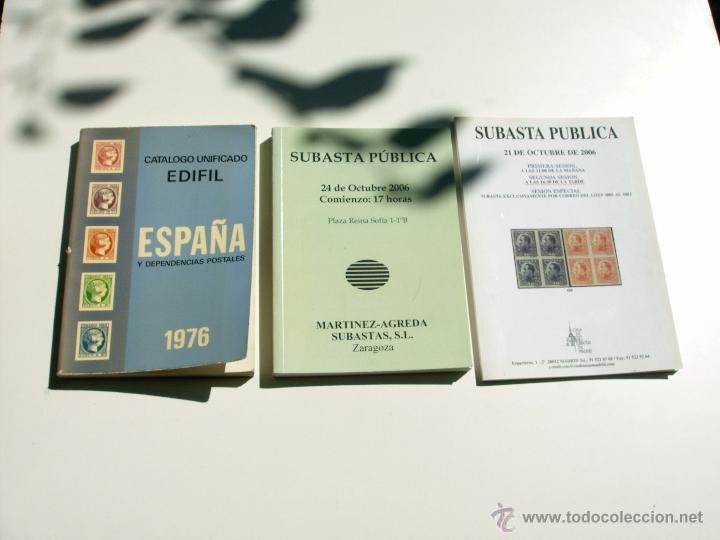 LOTE DE 3 LIBROS DE FILATELIA (Filatelia - Sellos - Catálogos y Libros)