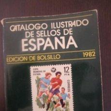 Sellos: CATALOGO ILUSTRADO DE SELLOS DE ESPAÑA / RICARDO DE LAMA / EDICION DE BOLSILLO 1982. Lote 52759523