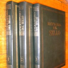 Sellos: ENCICLOPEDIA DEL SELLO / COMPLETA 3 TOMOS / HISTORIA DEL SELLO ESPAÑOL Y DEL MUNDO. Lote 52803511