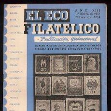 Sellos: LOTE DE 20 NUMEROS DE EL ECO FILATELICO. 1960. Lote 53176067