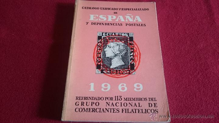 Sellos: Catalogo unificado y especializado de españa y dependencias postales 1969 - ref MG - Foto 1 - 53339483