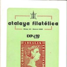Sellos: ATALAYA FILATÉLICA. Nº 43 ENERO 1989. REVISTA TRIMESTRAL DE LA SOCIEDAD FILATÉLICA SEVILLANA. . Lote 53529644