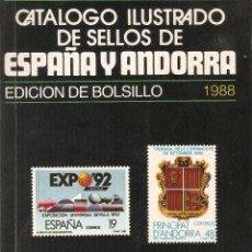 Sellos: ANTIGUO CATALOGO ILUSTRADO DE SELLOS EDICIÓN DE BOLSILLO 1988. Lote 53885600