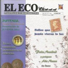 Francobolli: EL ECO FILATÉLICO Y NUMISMÁTICO NRO.1180 DICIEMBRE 2009 REVISTA - VER SUMARIO. Lote 54164001