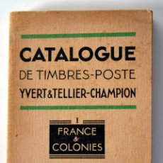 Sellos: CATALOGUE DE TIMBRES - POSTE YVERT & TELLIER FRANCE & COLONIES 1952 FRANCIA COLONIAS. Lote 54395779