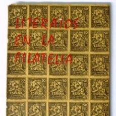 Sellos: CATALOGO LITERATOS EN LA FILATELIA. TOMO I. BARCELONA 1966. CARMEN PERARNEU DE BRUSE.. Lote 54434395