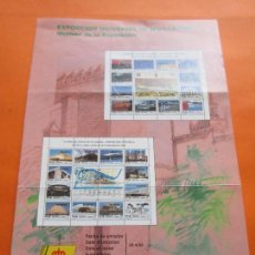 Sellos: EXPOSICION UNIVERSARL SEVILLA 1992 - INFORMACION 7/92 CORREOS Y TELEGRAFOS FECHA EMISION 20/4/92. Lote 54704082