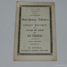 Sellos: (M) LIBRO CATALOGUE OF THE POSTAGE ADHESIVES OF GREAT BRITAN WITH DATES OF ISSUE OF ALL VARIETIES . Lote 55907890