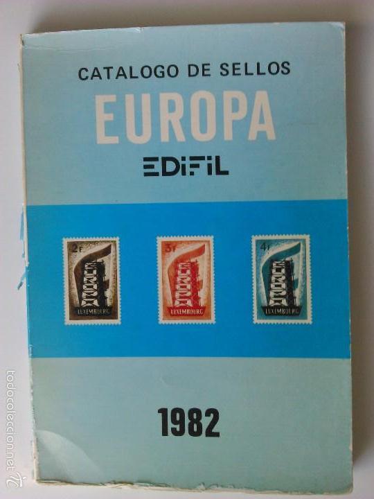 CATALOGO SELLOS EUROPA 1982 EDIFIL (Filatelia - Sellos - Catálogos y Libros)