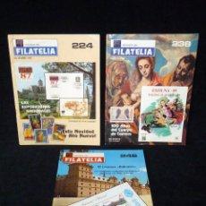 Sellos: LOTE DE 3 REVISTAS RF REVISTA DE FILATELIA. Nº 224, 238 Y 246. AÑOS 1987-89. Lote 57967195