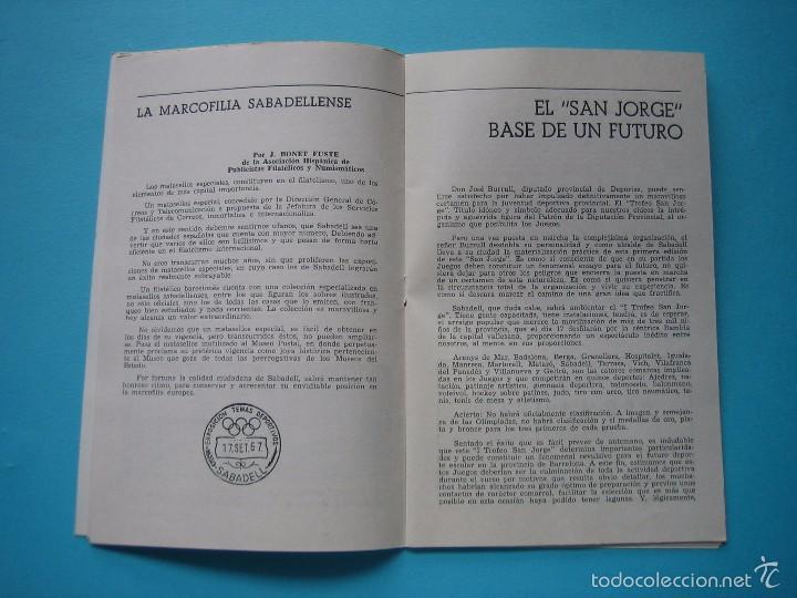 Sellos: EXPOSICION FILATELICA DE TEMAS DEPORTIVOS - SABADELL (BARCELONA) 1970 - 5 MATASELLOS ESPECIALES VER - Foto 6 - 58215246
