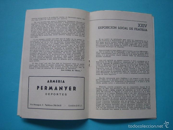 Sellos: EXPOSICION FILATELICA DE TEMAS DEPORTIVOS - SABADELL (BARCELONA) 1970 - 5 MATASELLOS ESPECIALES VER - Foto 7 - 58215246