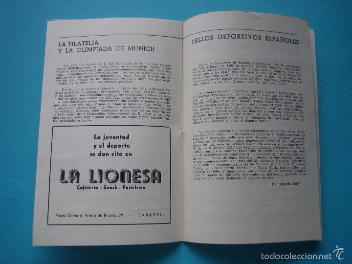 Sellos: EXPOSICION FILATELICA DE TEMAS DEPORTIVOS - SABADELL (BARCELONA) 1970 - 5 MATASELLOS ESPECIALES VER - Foto 8 - 58215246