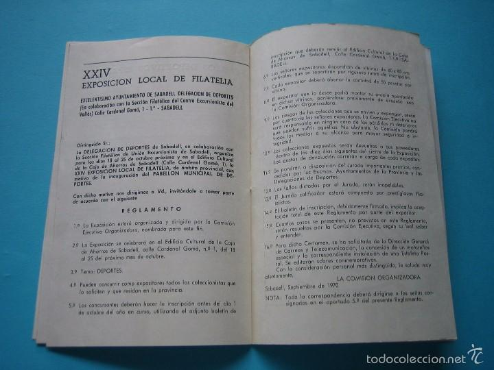 Sellos: EXPOSICION FILATELICA DE TEMAS DEPORTIVOS - SABADELL (BARCELONA) 1970 - 5 MATASELLOS ESPECIALES VER - Foto 9 - 58215246