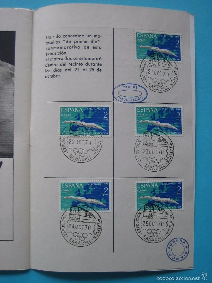 Sellos: EXPOSICION FILATELICA DE TEMAS DEPORTIVOS - SABADELL (BARCELONA) 1970 - 5 MATASELLOS ESPECIALES VER - Foto 11 - 58215246
