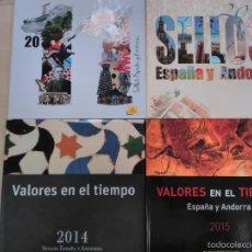 Sellos: VALORES EN EL TIEMPO , TODAS LAS EMISIONES DE SELLOS 4 TOMOS 2011-2012-2014-2015. Lote 58606828