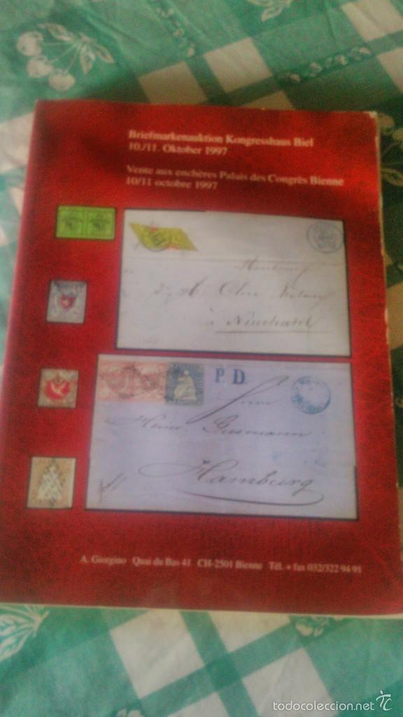CATALOGO DE SUBASTA DE SELLOS BIEL KONGRESSHAUS DE OCTUBRE DE DE 1997 (Filatelia - Sellos - Catálogos y Libros)