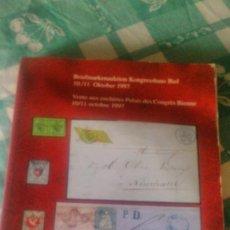 Sellos: CATALOGO DE SUBASTA DE SELLOS BIEL KONGRESSHAUS DE OCTUBRE DE DE 1997. Lote 59678103