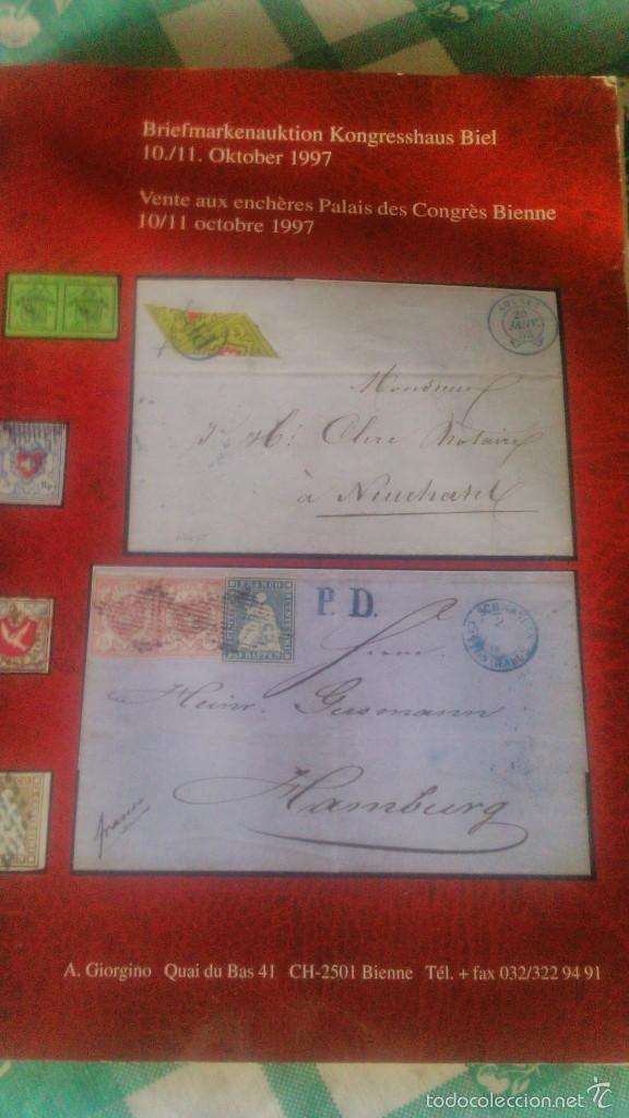Sellos: catalogo de subasta de sellos Biel Kongresshaus de octubre de de 1997 - Foto 2 - 59678103