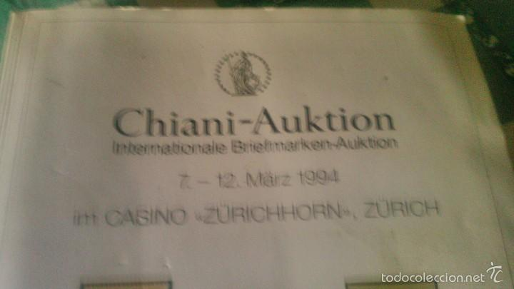 Sellos: catalogo de subasta de sellos, chiani auktion international briefmarken auktion 1994 zurich - Foto 2 - 59678315