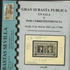 Sellos: CATALOGO - SUBASTA.. Lote 60809211