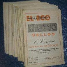 Sellos: EL ECO FILATÉLICO Y NUMISMÁTICO, AÑO COMPLETO 1979, 22 REVISTAS DEL Nº 738 AL 759. Lote 61660188