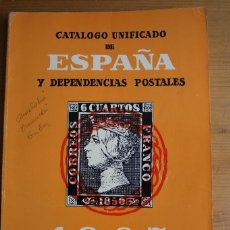 Sellos: CATALOGO UNIFICADO DE ESPAÑA Y DEPENDENCIAS POSTALES 1967. Lote 62186368