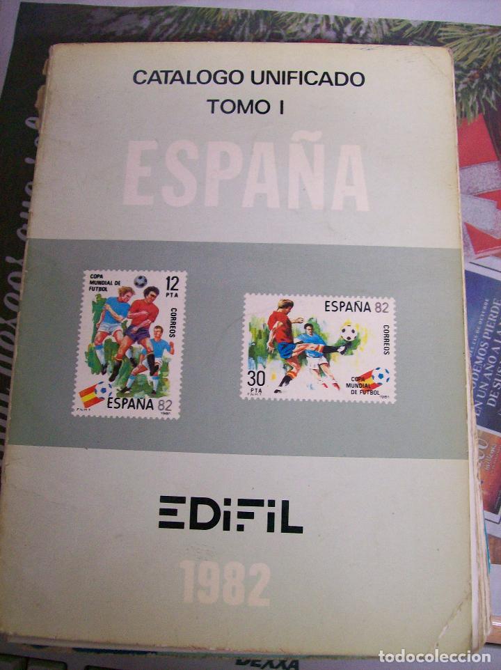 CATALOGO UNIFICADO ESPAÑA. EDIFIL. TOMO I. 1982 (Filatelia - Sellos - Catálogos y Libros)