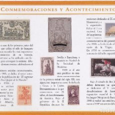 Sellos: LOTE DE 131 FICHAS DE LA COLECCIÓN DE ESPAÑA SELLO A SELLO DE EL PAIS (NO COMPLETA Y HAY REPETIDAS). Lote 64964379