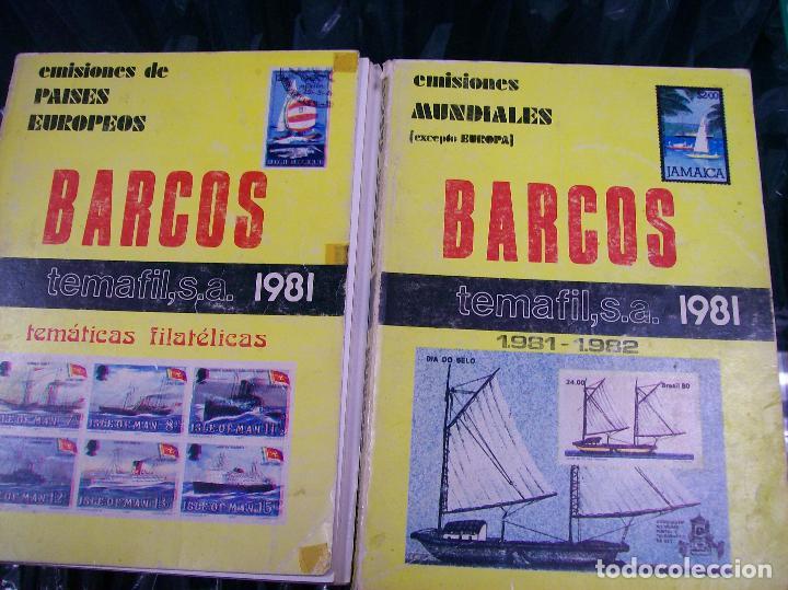 2 CATALOGOS BARCOS. TEMAFIL 1981/82 (Filatelia - Sellos - Catálogos y Libros)