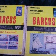 Francobolli: 2 CATALOGOS BARCOS. TEMAFIL 1981/82. Lote 66253026